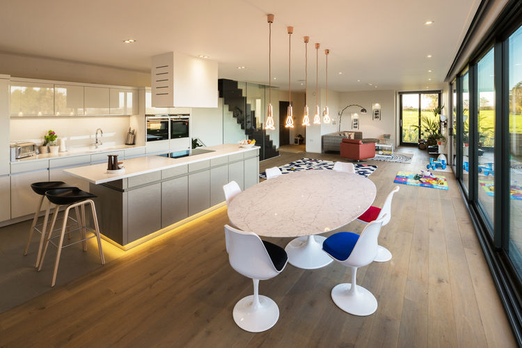 Oxford House Open Plan Kitchen, Dining and Living Areas