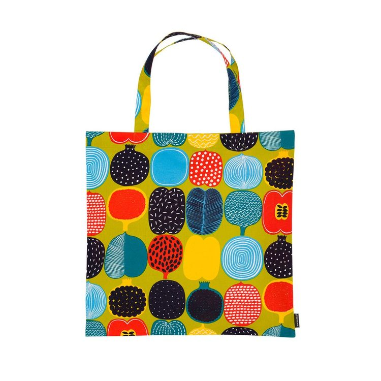 Cheerful and colorful cotton tote