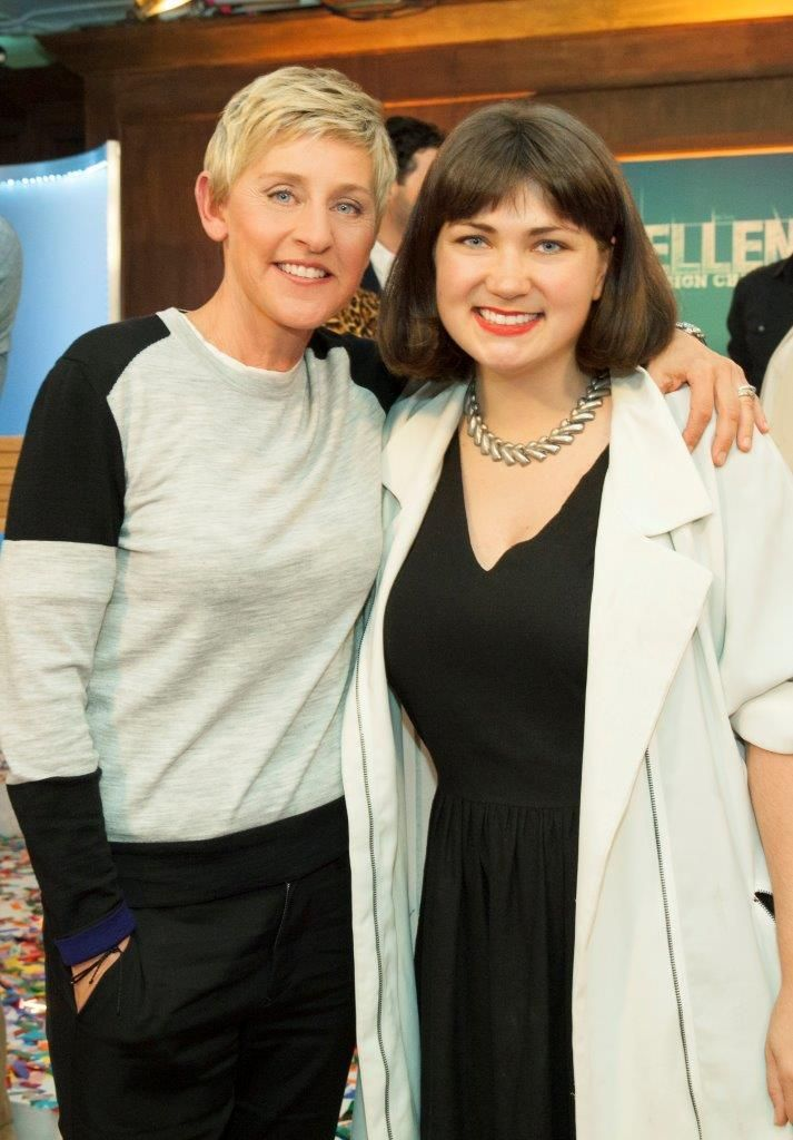 Katie Stout and Ellen Degeneres on Ellen's Design Challenge