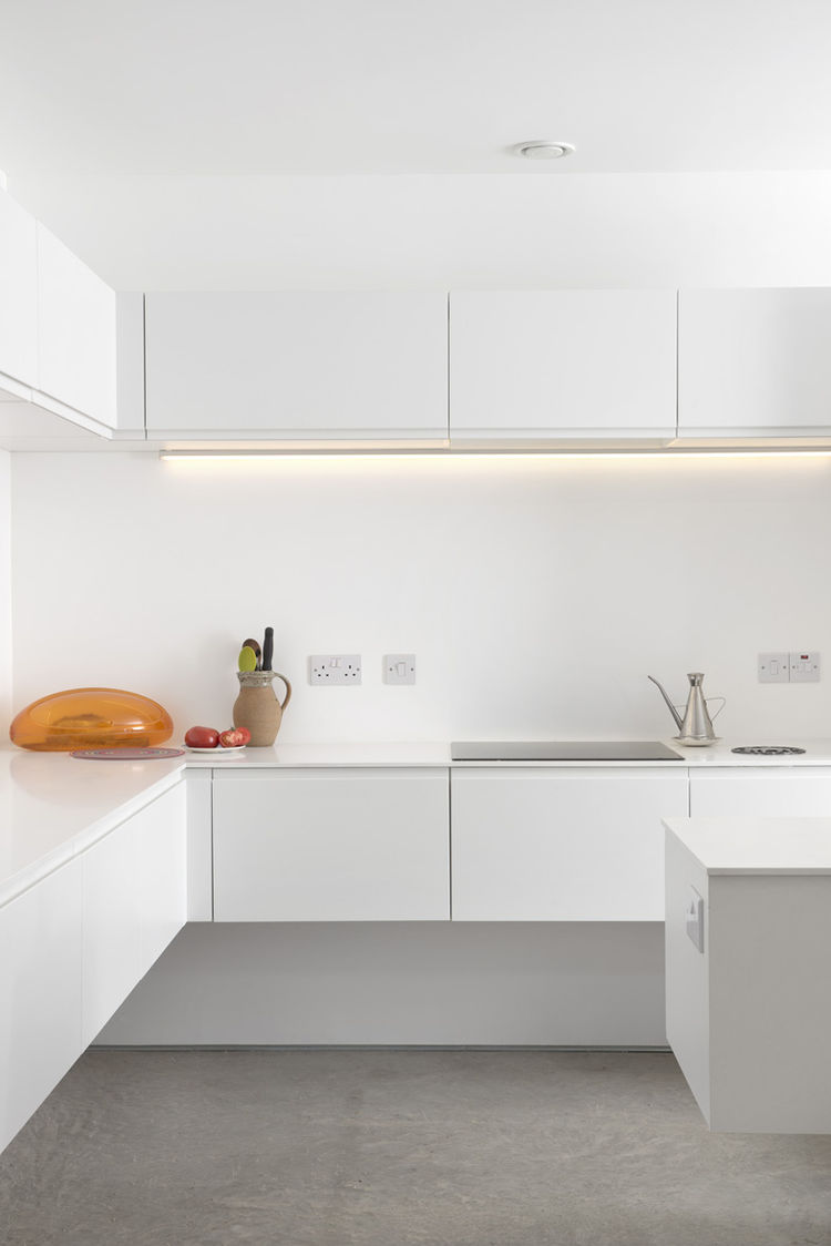 Ferrum House Minimal White Kitchen