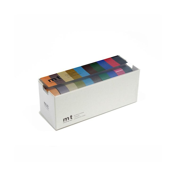 Multi-colored washi rice paper tape set