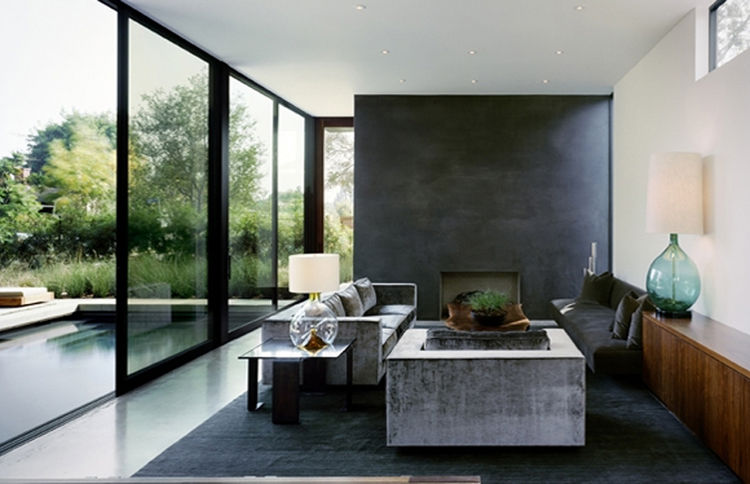 Living room of Marmol Radziner's Vienna Way Residence in Venice, California