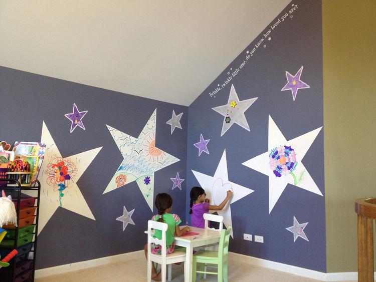 IdeaPaint wall in a kids bedroom