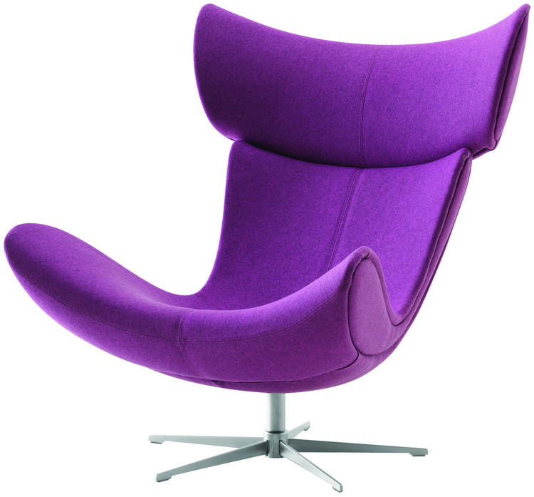 BoConcept's Imola chair in an orchid hue.