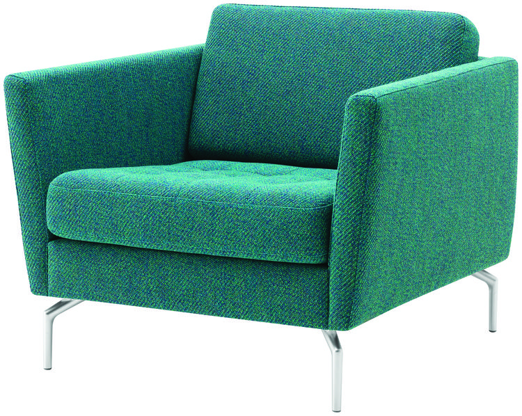 BoConcept's Osaka chair in a blue-green Rimini fabric.