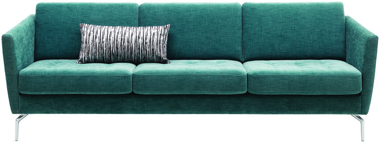 BoConcept's Osaka sofa in turquiose Napoli fabric.