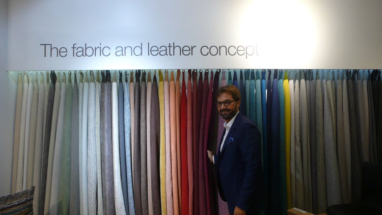 BoConcept upholstery directory Stefano Sette at the Santa Monica showroom.