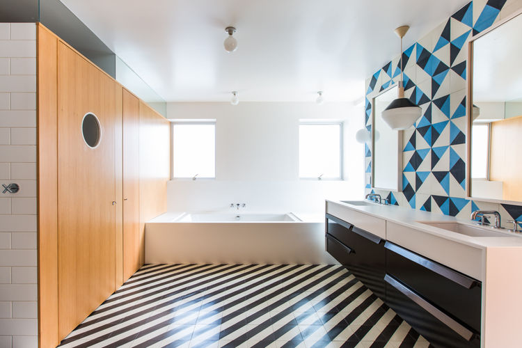 Architect Barbara Bestor Los Angeles tile bathroom