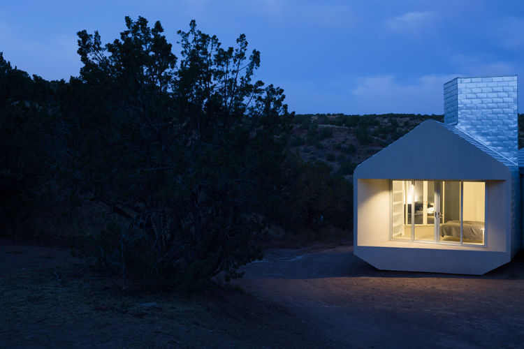 An off-the-grid prefabricated housing unit.