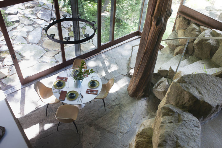 Interior dining area at Russel Wright's Manitoga.