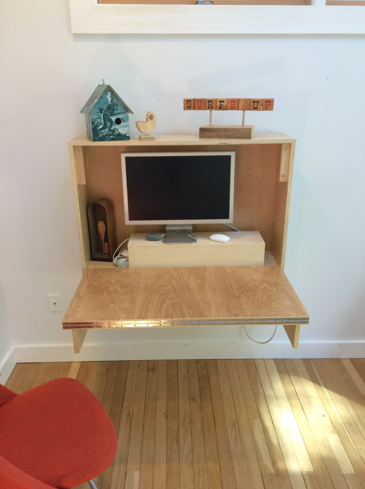 Custom compact desk made from Birch plywood