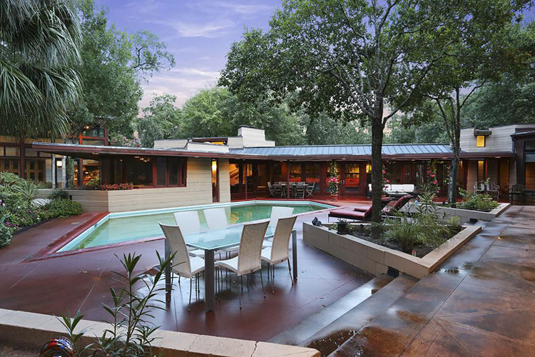 Frank Lloyd Wright midcentury modern in Houston
