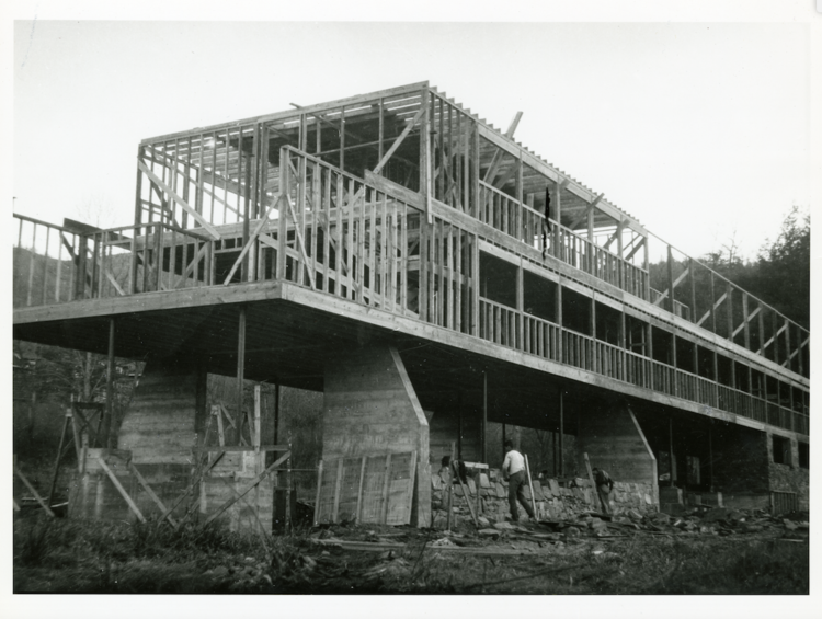 Construction of Kocher's Studies Building