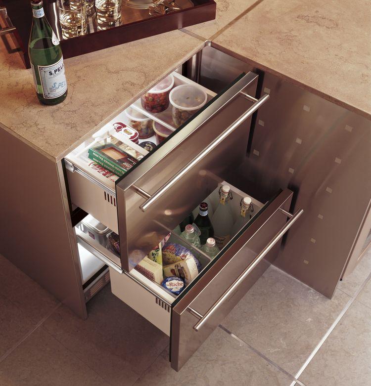 Monogram undercounted refrigeration drawer