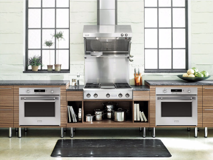 Monogram kitchen with wall ovens