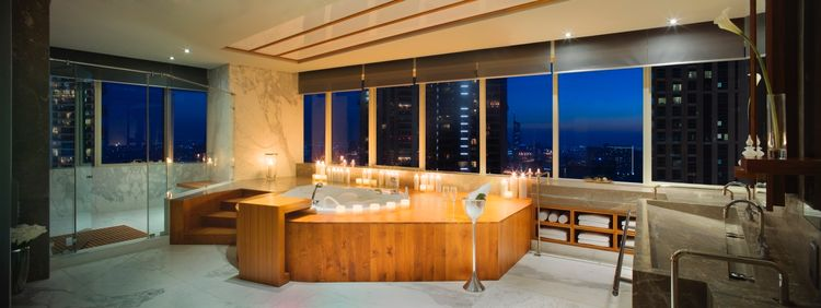 The penthouse bathroom at the Le Rêve residential tower in Dubai