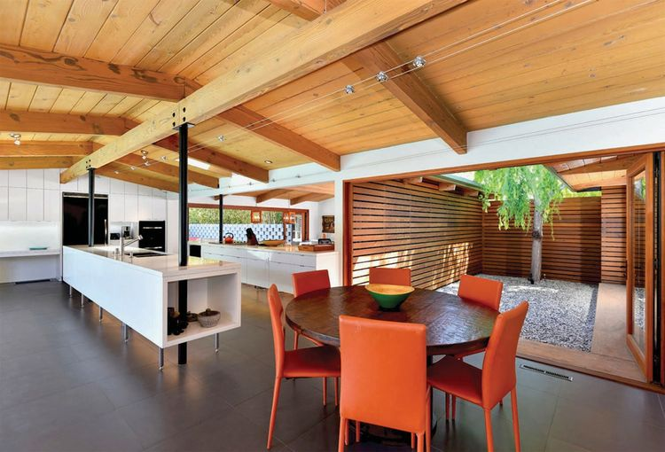 The open kitchen of the El Dorado home by Steven Lombardi