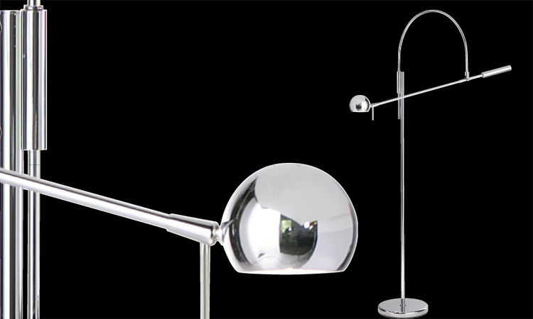 Sonneman's Orbiter floor lamp when it was first designed in 1967