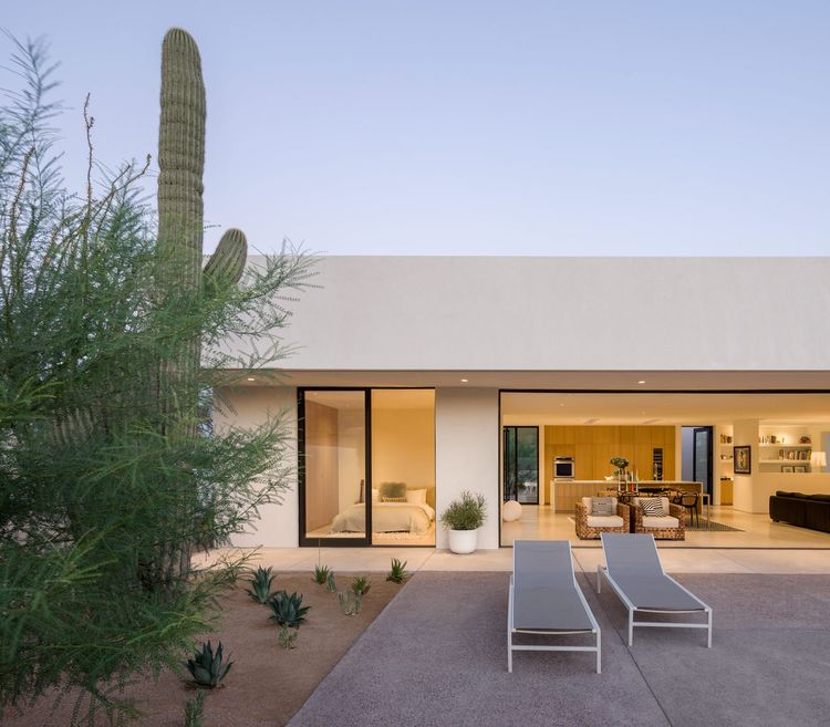 The outdoor space of the House on Marion, designed by Lightvox Studio