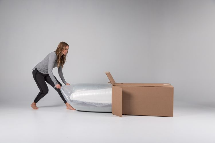 Luxi's mattresses are delivered to your door in a convenient box.