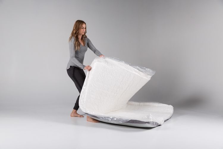 Each Luxi mattress is shipped in a compressed package.
