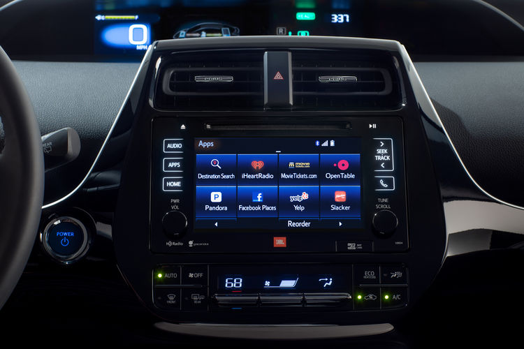 The 2016 Toyota Prius' color dual Multi-Information Display.