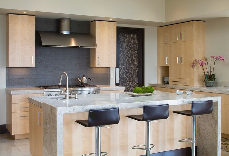 The kitchen of the Modern Serenity house.