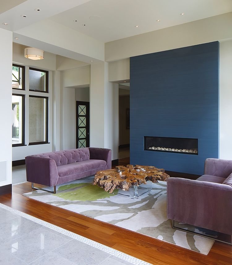 The open living space of the Modern Serenity house.