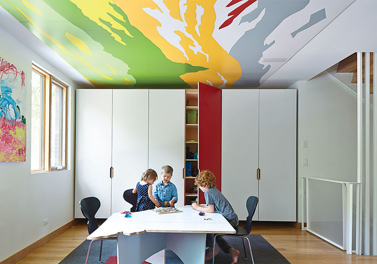 The playroom of Matthew and Jesse Hufft's Roanoke Park residence.