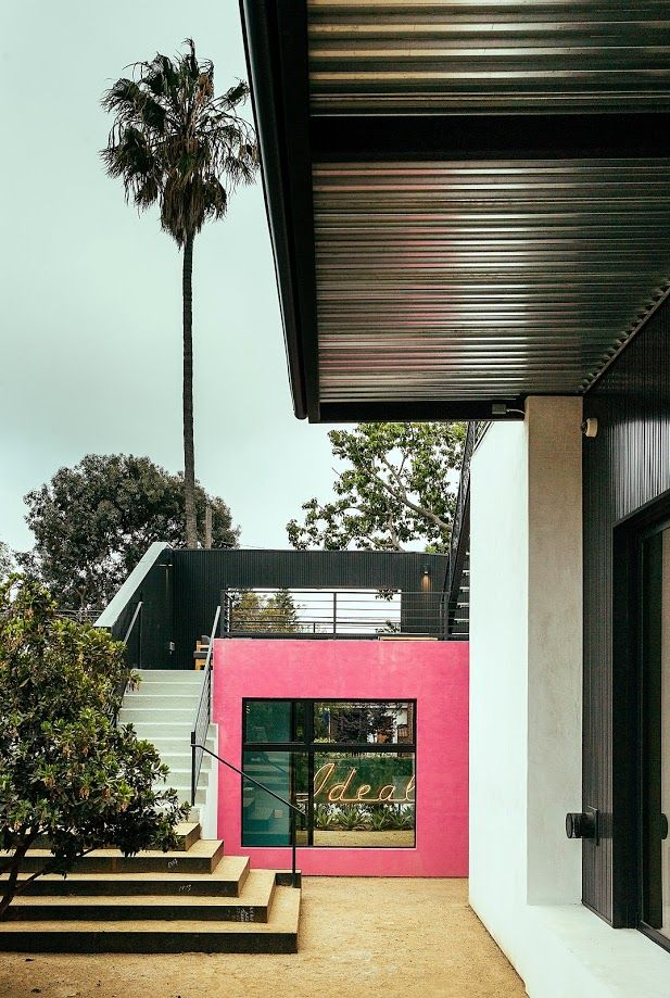 The colorful accents of the Piccus Residence.