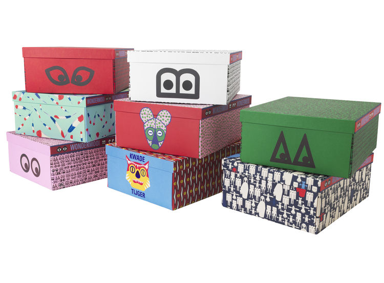 Decorative boxes made of stationary and paper.