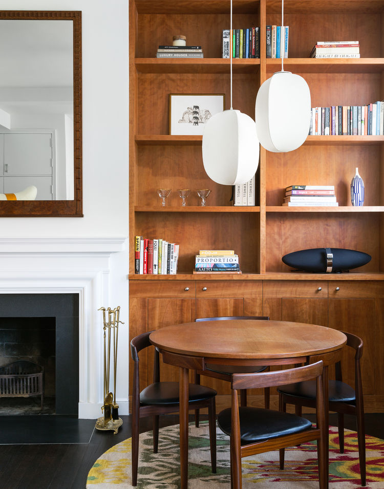 Dining set designed by Hans Olsen in a West Village apartment