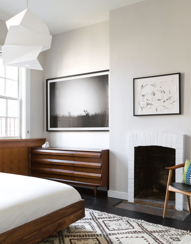 Bedroom in a West Village apartment