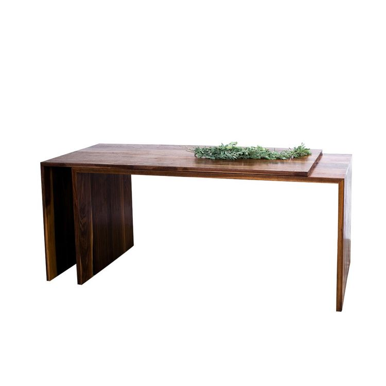 Adjustable desk and table with pronounced wood grain