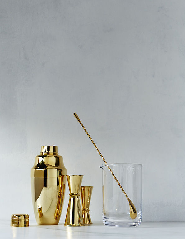 24-karat gold-plated barware collection