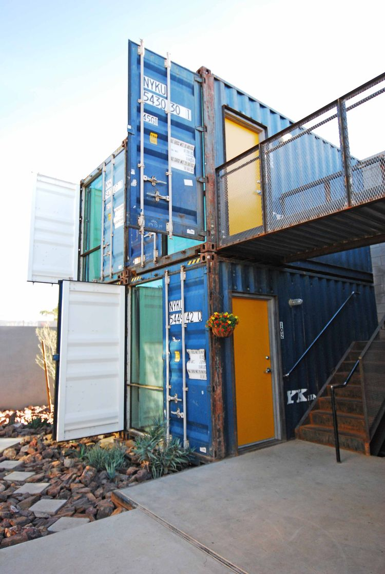 Containers on Grand floor-to-ceiling windows