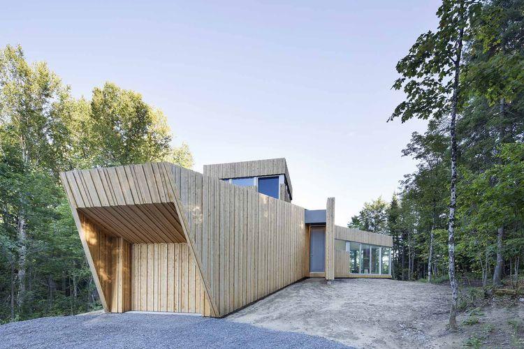White cedar facade