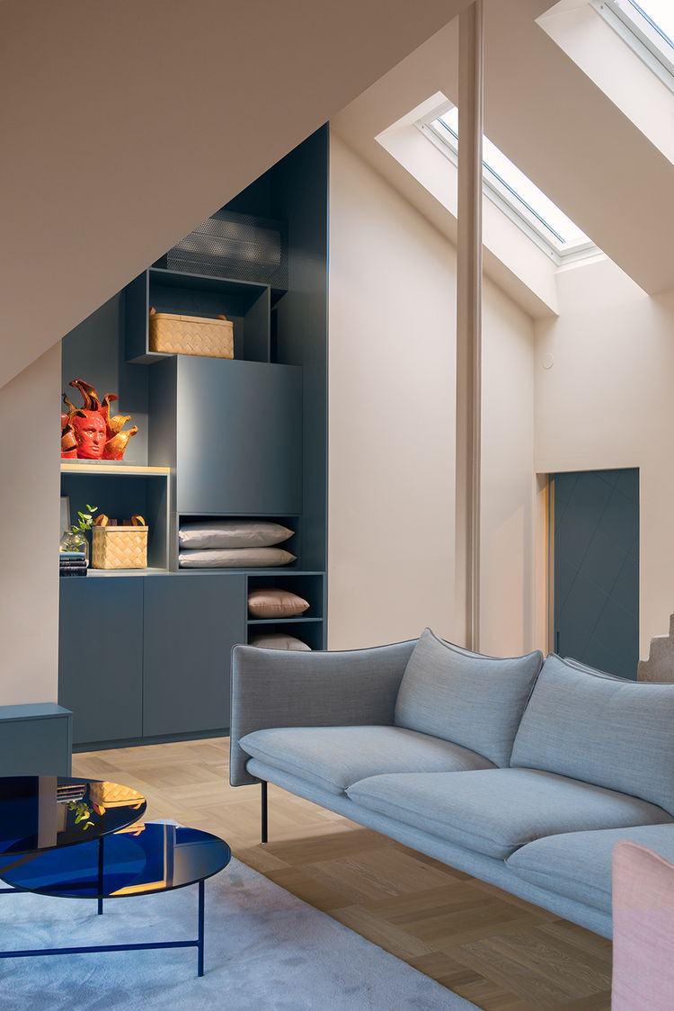 Stockholm loft living room