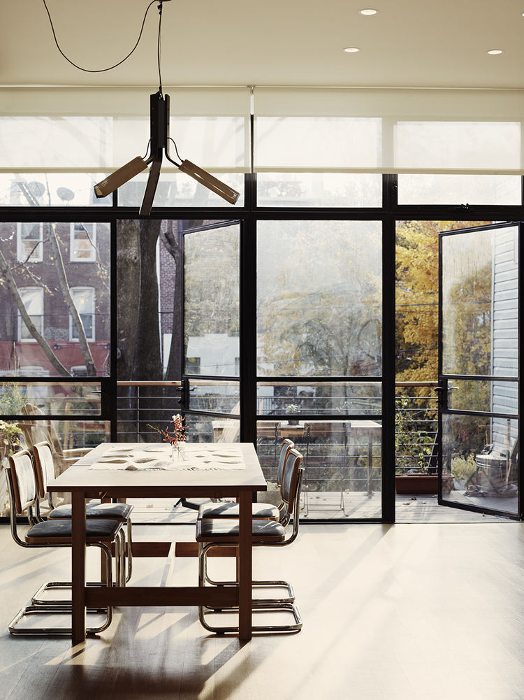 Open-plan dining room in Brooklyn