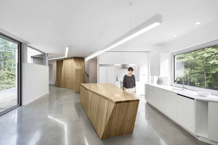 Kitchen with custom island.