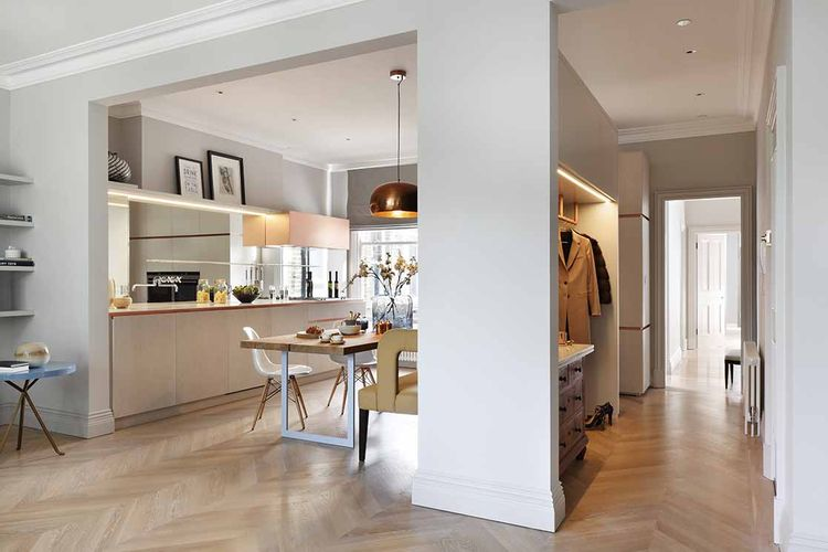 Hallway and closet at a London flat