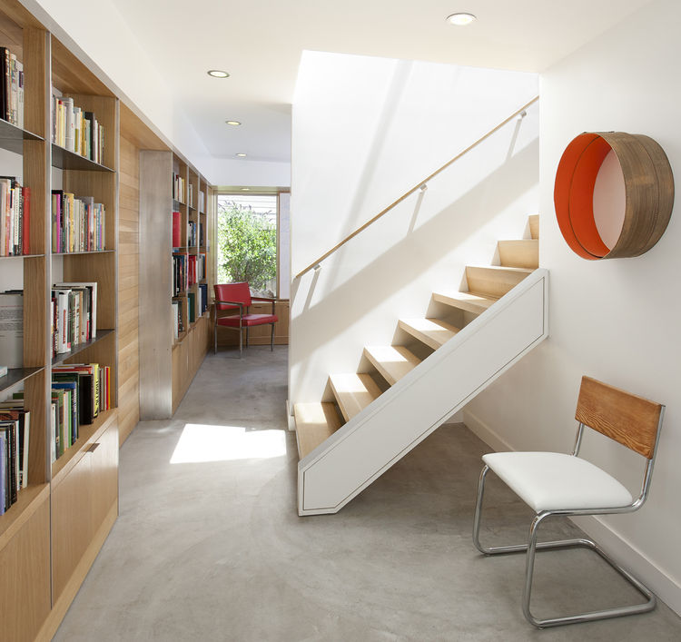 Florida Street renovation library and stairs