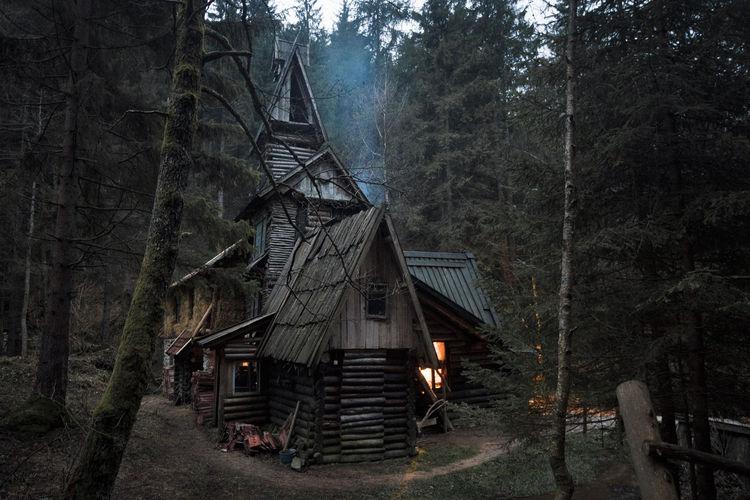 Wood structure in the Bosnian village of of Zelenkovac