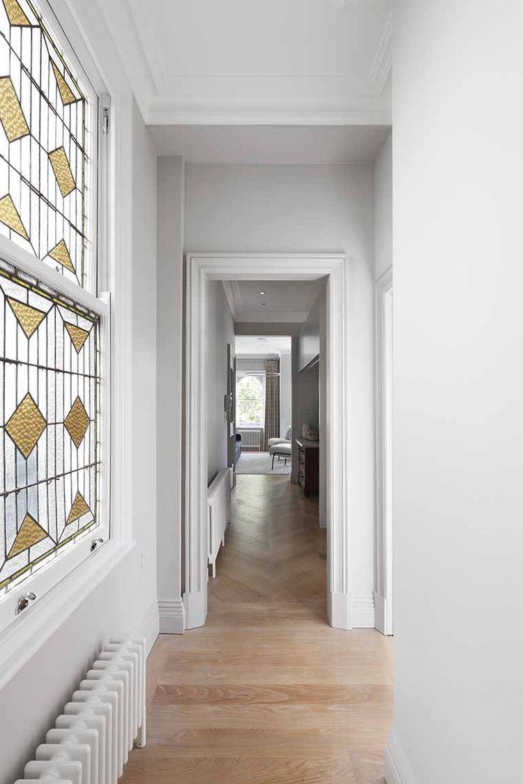 A London Victorian with an intact stained-glass window