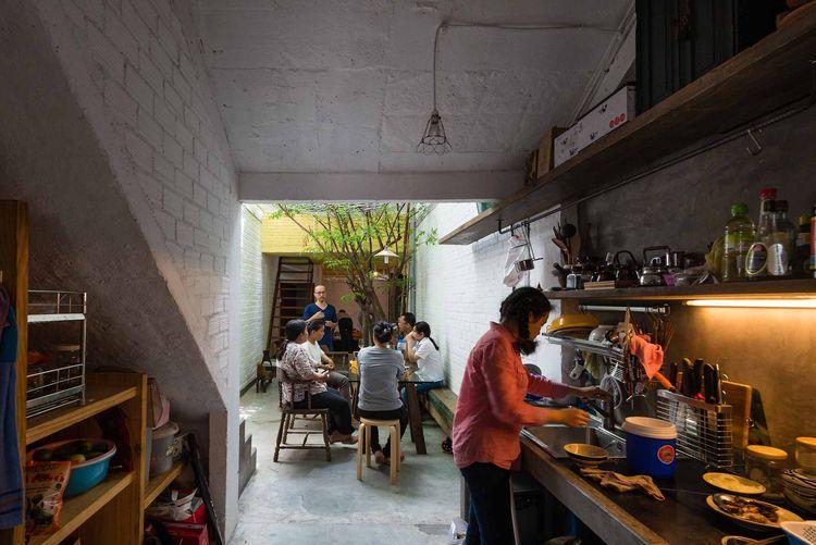 Indoor-outdoor kitchen in Saigon