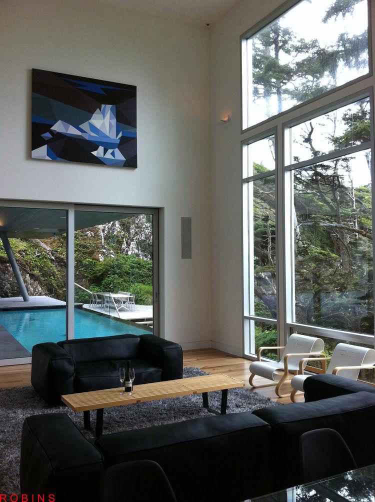 Tofino prefab living room