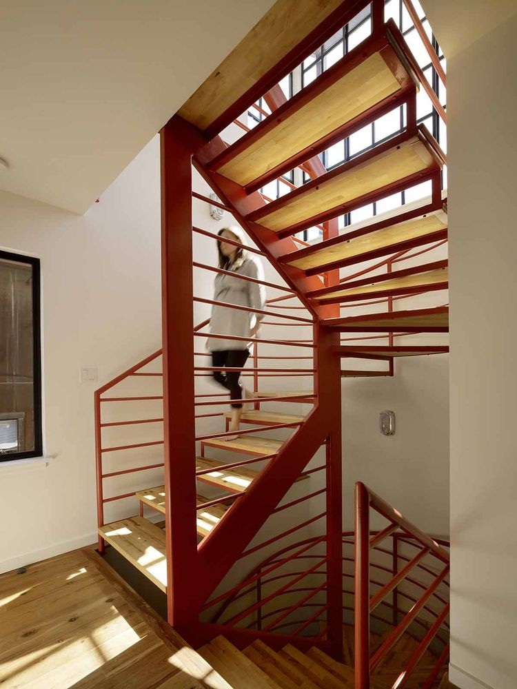 San Francisco floating house stairs