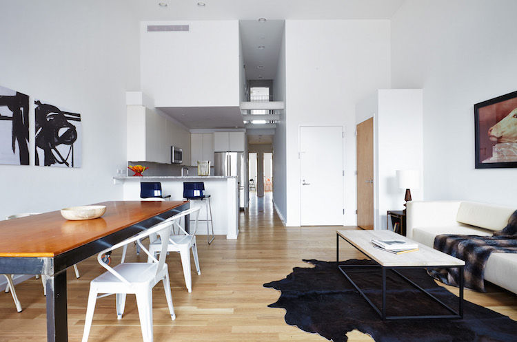 Passive House in Brooklyn with a modern living area