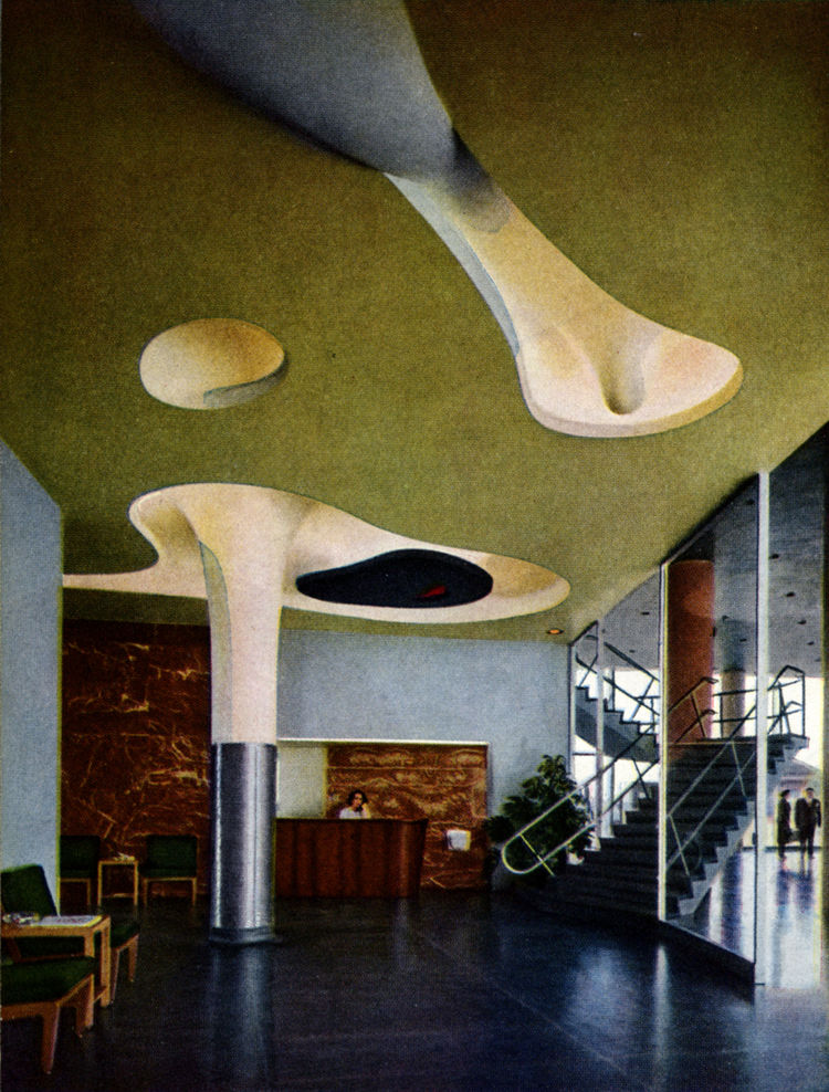 Ceiling by Isamu Noguchi at American Stove Company