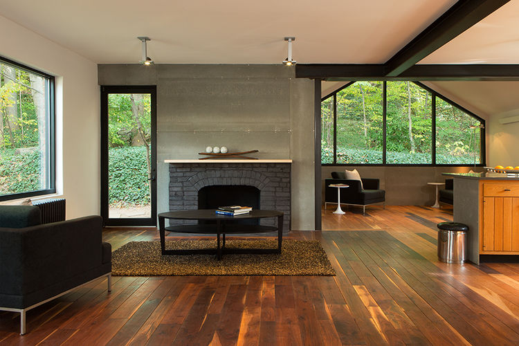 Interior of a renovation of a brick house in Northern Virginia